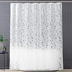 180x200cm ERBI Premium Textil Duschvorhang Shower Curtain bunt f/ür Dusche Badewanne Anti-Schimmel Antibakteriell Wasserdicht Vorhang versch Design Muster inkl 12 Duschvorhangringen