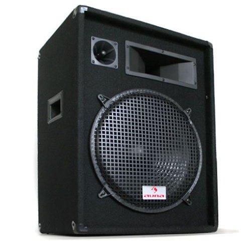 Malone PW-1522 cassa audio passiva altoparlante full-range a 3 vie (800W, subwoofer 30cm, trasportabile) - nero