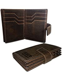 EL Mio Brand New Stylish, Classic & Royal 100% Pure & Natural Genuine Vintage Brown Leather Unisex Trendy Rustic...