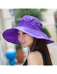 Fan Dear Mujer Sombrero Verano Visor UV máxima a lo largo de la Playa de arena en el sol Sombreros Protección Solar plegable Cool Cap, c