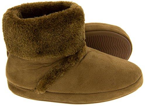 Footwear Studio Belle Fille Yeti Faux suède Fausse Fourrure Bottines Pantoufle doublé