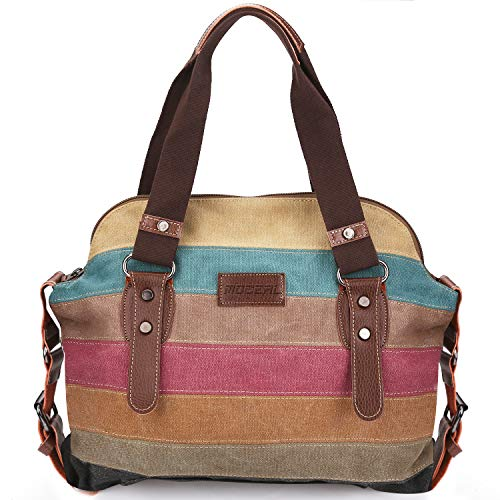 triped Canvas Damen Handtasche/Umhängetasche Canvas Tasche Shopper Hobo Bag ()