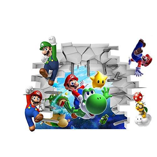 Kinder Wandtattoo Decor Super Mario Mario Bros Größe 65cm x 48cm