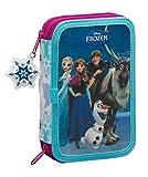 Disney Frozen - Die Eiskönigin Elsa Anna, Federtasche Federmappe 34 tlg. gefüllt (S054), blau/weiß (615), 20,5 x 13,5 x 4,5 cm