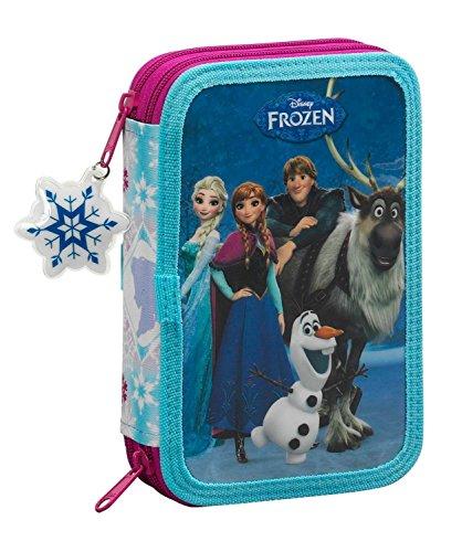 Disney frozen - la regina delle nevi elsa anna, astuccio portapenne 34 pz. pieno (s054), blu / bianco (615), 20,5 x 13,5 x 4,5 cm