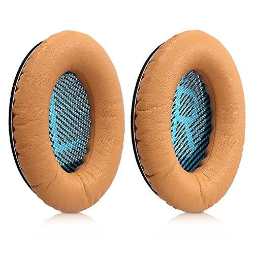 kwmobile 2X Ohrpolster für Bose Quietcomfort Kopfhörer - Kunstleder Ersatz Ohr Polster für Bose Overear Headphones thumbnail