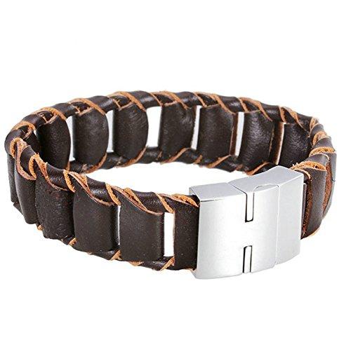 adisaer-acier-inoxydable-gourmette-hommes-bracelet-charms-brun-argent-fermoir-magnetique-veritable-b