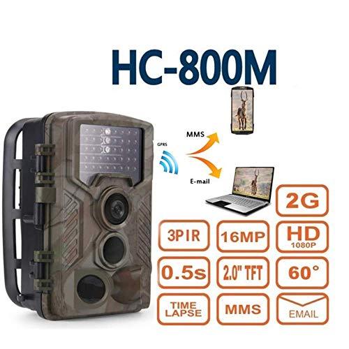Jackeylove Wildlife Trail Kamera, 1080P wasserdicht Infrarot 16MP MMS GSM E-Mail-Übertragung Foto-Trap Bewegungserkennungskamera im Außenbereich Überwachung zu Hause Sicherheitsjagd