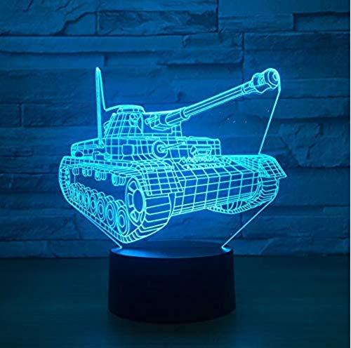 3D Nachtlicht 7 Farbwechsel USB Remote Touch Schalter Baby3D Tischlampe -