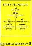 60 Übungsstücke in fortschreitender Schwierigkeit: Teil 2. Oboe mit 2. Oboe als Begleitstimme.