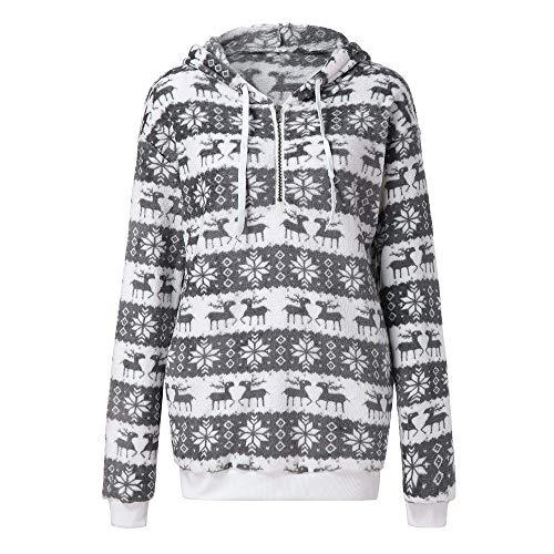 (TWIFER Frauen Weihnachten Kapuzenpulli Mantel Winter Warme Wolle Reißverschluss Taschen Outwear.)