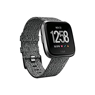 Fitbit Versa Special Edition Health & Fitness Smartwatch with Heart Rate, Music & Swim Tracking, Charcoal (B07B9PSJGV) | Amazon price tracker / tracking, Amazon price history charts, Amazon price watches, Amazon price drop alerts