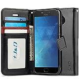 J&D Case Compatible for Moto E4 Plus Case, [Wallet Stand]