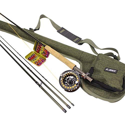 KinshopS Fly Fishing Rod Combo Carbon Fiber Fly Fishing Rod Fly Fishing  Wheel with Bag