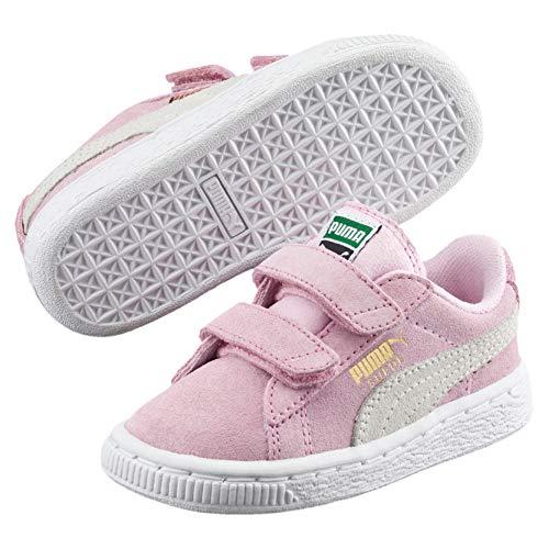 Puma Unisex-Kinder Suede 2 Straps Inf Sneaker, Pink, 21 EU