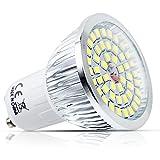 1x 6W GU10Leuchtmittel Spot LED AC85–265V 300LM kaltweiß 6000–7000K 120° Abstrahlwinkel 48SMD 2835LED lampen