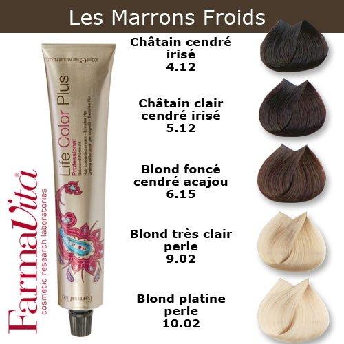 coloration cheveux farmavita tons marron froids chtain clair cendr iris 512 - Coloration Chatain Cendr