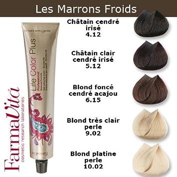 coloration cheveux farmavita tons marron froids blond platine perle 1002 10 f - Coloration Blond Perle
