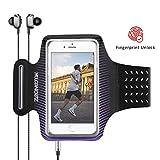 Zeonetak Sport Armband Sweatproof Breathable Handy Armtasche mit Kartentasche Kopfhörerhalter Elastic Handytasche für Samsung S8 Plus\ S8\ C7 Pro\ S7\ S8 \Note 8\ C9, iPhone X MAX/XS/XR/ 8/7