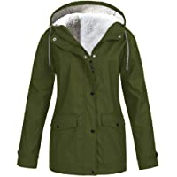 HARRYSTORE- Rain Jacket Active Outdoor Hooded Women Trench Coats Waterproof Hoody Raincoat for Hiking Skiing Trekking Travelling Windbreaker Mountaineering