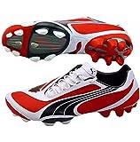 Puma V1.08 i FG Mens Football Boots Cleats - Red-Red-42.5