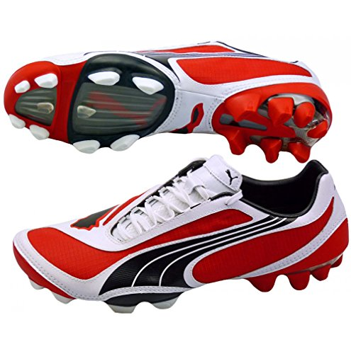 Puma V1.08 i FG Mens Football Boots Cleats - Red-Red-43.5