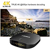 YAGALA T95D Android 7.1 TV Box with 2GB RAM 16GB ROM Quad Core smart tv box supports Bluetooth/HD 4K HDMI/Wi-Fi 2.4GHz/H.265