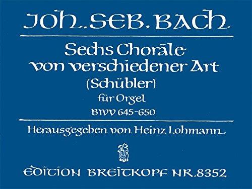 Schubler Chorale Bwv645-650 Orgue