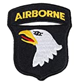 Loklode® Generic 2. Weltkrieg US Army Airborne Division Fallschirmjäger WK2Eagle Schulter Patch Badge Farbe schwarz