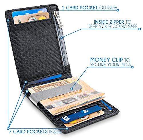 prezzo competitivo b1057 80af6 TRAVANDO-Portafoglio-uomo-piccolo-con-protezione-RFID-LONDON-Porta ...