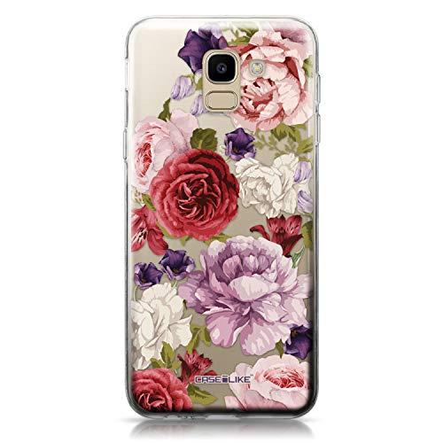 CASEiLIKE® Funda Samsung J6 2018, Carcasa Samsung Galaxy J6 2018, Rosas mezcladas 2259, TPU Gel Silicone Protectora Cover