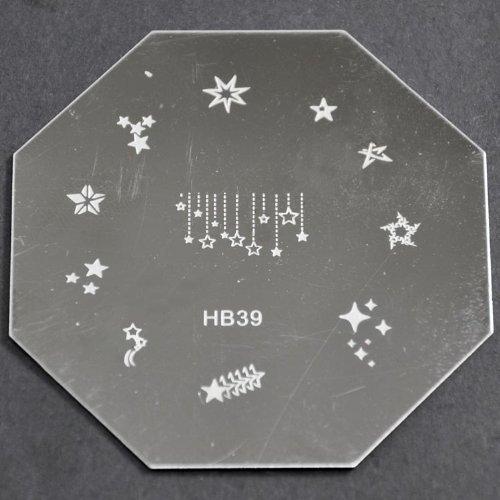 Nail Art emboutissage des tôles - HB39 CODE : HB39-plaque