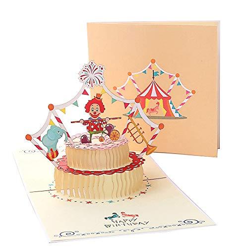 Gruß Geburtstagskarten für Kinder, Deesos Geburtstagskarte Geschenk für Kinder, 3D Pop Up-Grußkarte mit schönem Papierschnitt, Umschlag enthalten (Kinder)