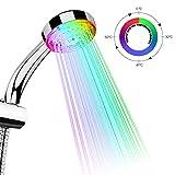 tankerstreet pommeau de douche led lumineux 7 couleurs changement automatique pomme de douche