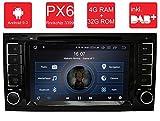 M.I.C. AVT7 Android 9 Autoradio Naviceiver Moniceiver Navigation: PX6 RK 3399 4G+32G 8 Zoll IPS Bildschirm DAB+ Digitalradio Bluetooth USB Mirrorlink GPS CAM Canbus für Volkswagen T5
