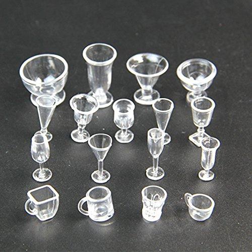 Dessert Eisbecher, Mini-Plastikschalen Gläser Tassen Einweg-Dessertbecher