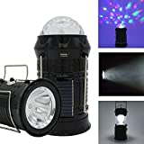 #2: VelVeeta Solar Camping Lantern Collapsible LED Party Light Portable Flashlight Rechargeable Solar Power Bank for Cell Phone Tablet Outdoor Trekking Hiking Tent Fishing(1-Piece)