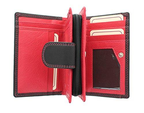 Portafoglio da Donna in Pelle Mala Collezione TABITHA con Protezione RFID e Spazio per ID 3118_77 Blu marino Nero