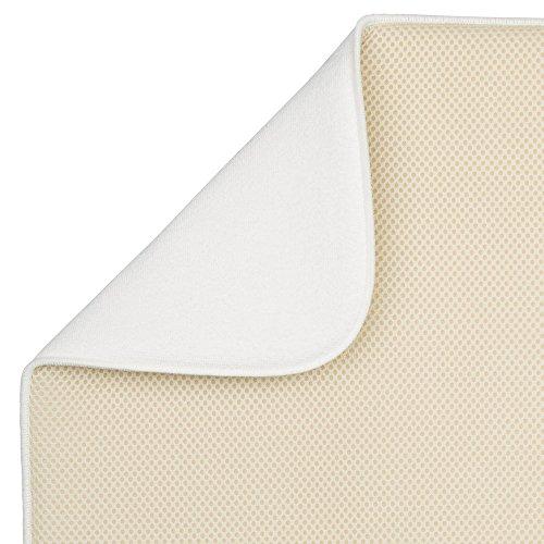 Color Trigo//Marfil Alfombrilla escurreplatos Extragrande y Gruesa de poli/éster y Microfibra para un Secado r/ápido InterDesign iDry Tapete de Cocina