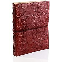 Store Indya,, diario de cuero genuino hecho a mano con hermosa cubierta en relieve