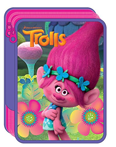 TROLLS- Plumier Doble (Factory 34520100)