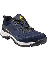 Grafters - Zapatillas de trabajo/Seguridad Laboral con puntera no metálica completamente integrada muy ligera para hombre (46 EU/Gris oscuro)