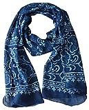 #5: Guru Kripa Enterprises Women's Stole (Blue) SIZE(170CM X 55CM) HANDBLOCK PRINTED