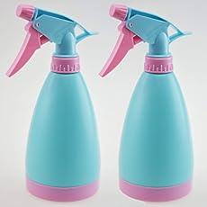 Primeway Plastic Multipurpose Trigger Spray Bottle, 500ml, 2 Pcs Set, Blue