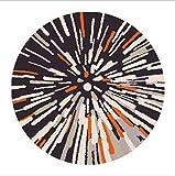 Detriti Time Fashion Trend Retro Astratto Tappeto Circolare Soggiorno Camera da Letto scrivania Computer Cuscino Tappeto Decorazione, 100 x 100 cm