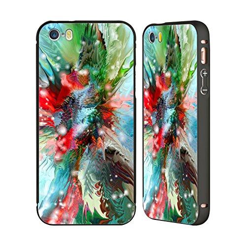 Ufficiale Runa Pesce Rosso Creature Del Mare Nero Cover Contorno con Bumper in Alluminio per Apple iPhone 5 / 5s / SE Rosso Verde