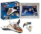 LEGO 60224 - City Satelliten-Wartungsmission, Bauset 30365 Raumfahrtsatellit Bausteine, Bunt