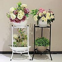 Soporte para macetas de Plantas Soporte de Hierro de múltiples Niveles para balcón Decoración de Sala