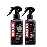 PACK+ ECONOMICO LIMPIEZA CASCOS MOTUL MC CARE M1 HELMET & VISION CLEAN 250ml + MOTUL M2 HELMET INTERIOR CLEAN 250ml
