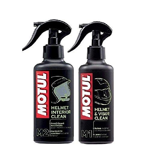 Preisvergleich Produktbild Kostengünstiger Pack + Kopfhörer Motul MC Care M1Helmet & Vision Clean 250ml + Motul M2Helmet Interior Clean 250ml
